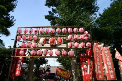 伊富久富稲荷神社例大祭の鳥居